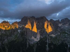 Timelapse zonsondergang Montenegro