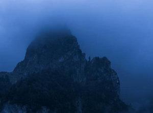 Mist blue hour Montenegro