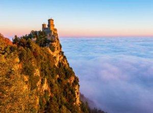 San Marino In Fog