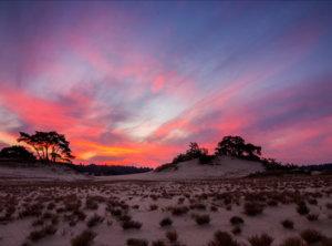 Timelapse rode zonsopkomst Veluwe