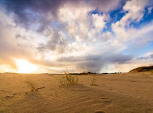 Timelapse hagelbui zandverstuiving