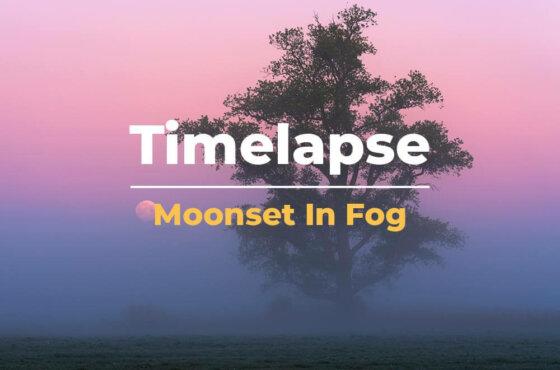 Timelapse   Volle maan in de mist